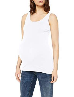 Noppies Women's Tank Berlin Maternity Vest Top, Optical White P175, (Size: XX-Large)