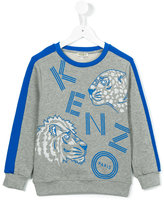 Kenzo logo print sweatshirt - kids - Cotton - 2 yrs