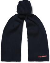 Prada Ribbed Virgin Wool Scarf