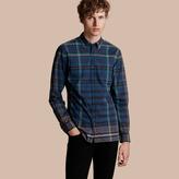 Burberry Button-down Collar Check Cotton Shirt