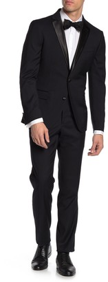 Savile Row Co Slim Fit Satin Notch Lapel 2-Piece Tuxedo