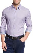 Ermenegildo Zegna Pill-Print Long-Sleeve Sport Shirt, Purple