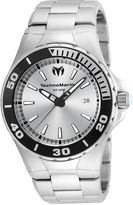 Technomarine TECHNO MARINE Techno Marine Mens Silver Tone Bracelet Watch-Tm-215048
