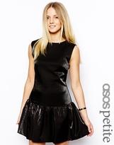 Asos Exclusive Drop Waist Metallic Dress - Black