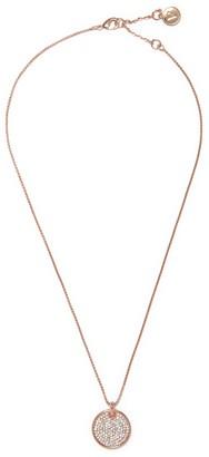 Vince Camuto Rose Goldtone Pave Disc Necklace