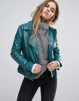 Muu Baa Muubaa Chello Leather Biker Jacket