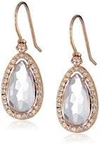 Suzanne Kalan Kalan by 14k Rose Gold, Rose de France, and White Sapphire Dangle Earrings
