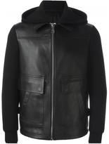 Neil Barrett leather hooded jacket