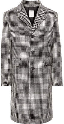 Sandro Prince Of Wales Checked Wool-Blend Coat