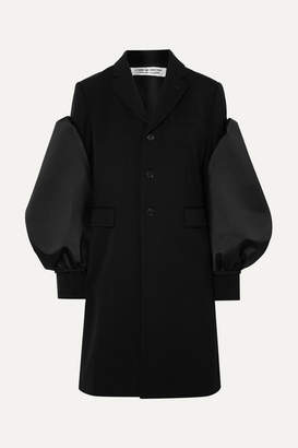 Comme des Garcons Satin-trimmed Wool Blazer - Black