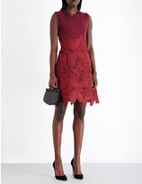 Antonio Berardi Lace-embroidered knitted dress