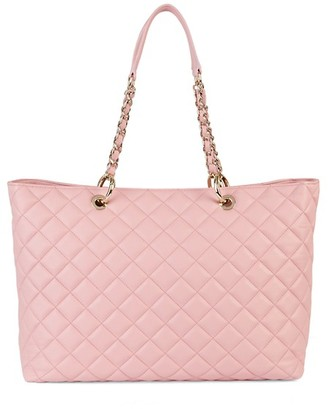 Saks Fifth Avenue Made In Italy Quilted Leather Tote