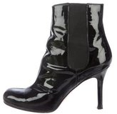 Kate Spade Patent Leather Round-Toe Ankle Boots