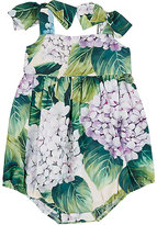 Dolce & Gabbana Hydrangea-Print Cotton Poplin Romper
