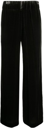 Aspesi Wide-Leg Velour Trousers
