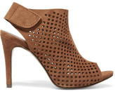 Pedro Garcia Sofia Perforated Suede Platform Sandals - Tan