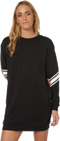 Swell Hackney Arm Print Sweater Dress Black
