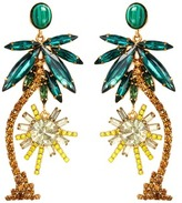 Elizabeth Cole 'Pamela' Swarovski crystal palm tree drop earrings