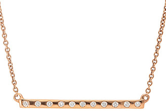 Nephora 14K Rose Gold 0.11 Ct. Tw. Diamond Bar Necklace