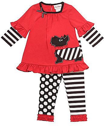 Rare Editions Infant Scottie Dog Dress & Leggings Set