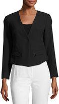 Trina Turk Lilla Crop Jacket Blazer, Black