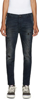 Diesel Blue Distressed Slim Chino Jeans
