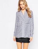 Just Female Grape Shirt in Flint White Brush