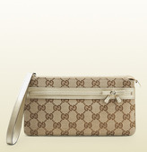 Gucci original GG canvas wristlet wallet