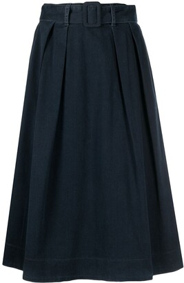 Tommy Hilfiger Denim Belted High-Waisted Skirt