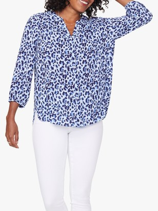 NYDJ Pintuck Pleat Back Blouse, Canyon Cat
