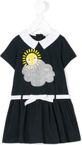 Fendi sunshine logo dress - kids - Cotton - 18 mth