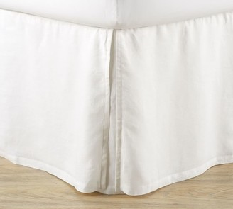 Pottery Barn Belgian Flax Linen Bed Skirt with Side Pleats