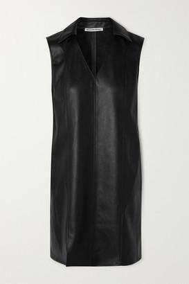Alexander Wang Faux Leather Mini Dress - Black