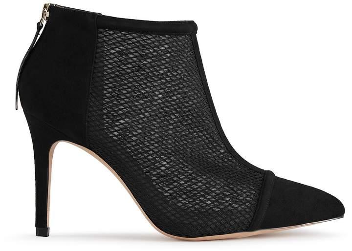 Reiss Davina Mesh-Panel Ankle Boots