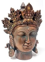 B.ella Bronze Finished Tibet Buddha Bust Meditating Peace Harmony Statue