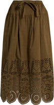 Muveil Broderie-anglaise cotton skirt