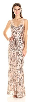Adrianna Papell Women's Venecian Jersey Draped Gown