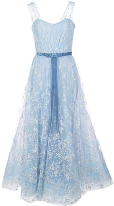 Marchesa flocked glitter tulle gown