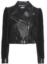 Alexander McQueen Leather And Shearling Jacket