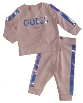 GUESS Girls French Terry Sweatshirt & Jogger Set