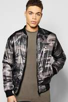 Boohoo Diamond Quilted Padded Camo Bomber Jacket