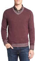 Nordstrom Tonal Trim V-Neck Sweater (Regular & Tall)