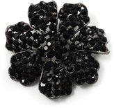 Avalaya Jet- Crystal Corsage Flower Brooch ( Tone)