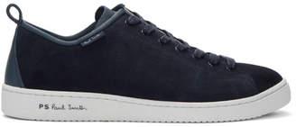 Paul Smith Navy Suede Miyata Sneakers