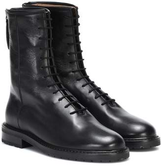 Legres Combat leather ankle boots