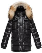 Moncler Boys' Riviere Down Parka with Fur Trim Hood - Sizes 4-14