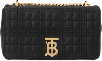 Burberry Small Quilted Lola Crossbody Bag
