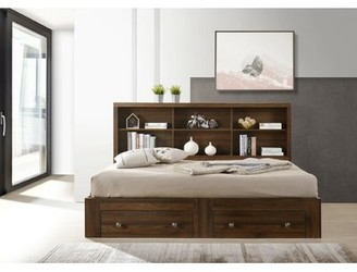 Harriet Bee Howell Daybed with Bookcase and 2 Drawers Size: Twin, Bed Frame Color: Walnut