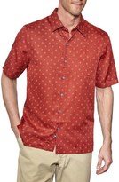 Nat Nast 'Starlight' Regular Fit Short Sleeve Silk & Cotton Sport Shirt