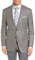 Hart Schaffner Marx Classic Fit Check Silk & Wool Sport Coat